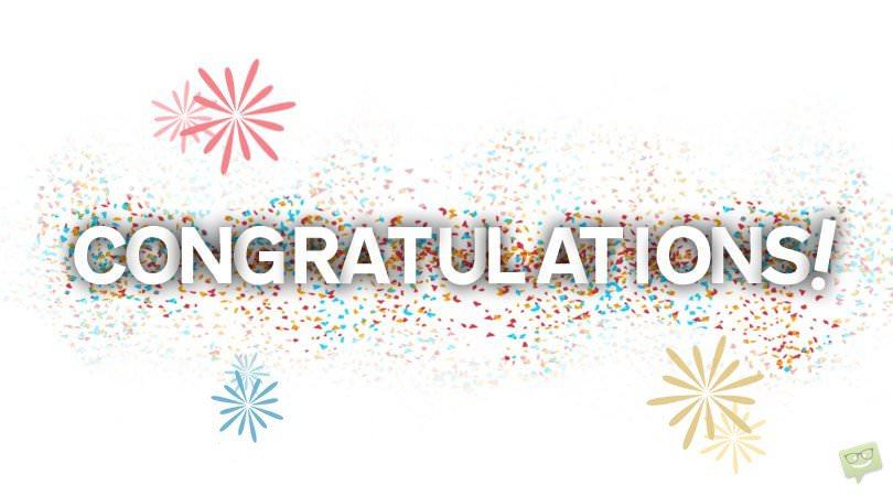 congratulations confetti background belvedere family